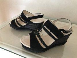 Gabor Platform Sandals black mixture fibre