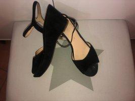 Gabor Platform High-Heeled Sandal dark blue leather