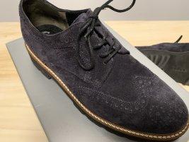Gabor Wingtip Shoes blue suede