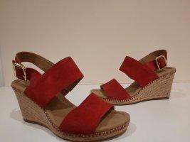 Gabor Sandalias de tacón con plataforma rojo