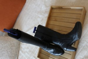 Gabor Heel Boots black leather