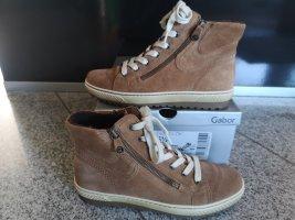 Gabor Sneaker/Seitenreißverschluss Leder Neu Größe 38,5