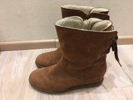 Gabor Stiefelette Boot Wedge braun cognac Leder Gr. 37 37,5 4,5