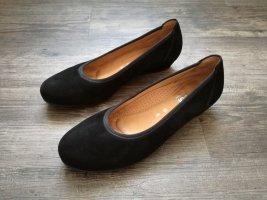 Gabor Comfort Ballerines à bout ouvert noir cuir