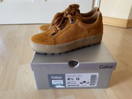 Gabor Wide fit Sneaker low Curry Gr 37,5 Schuh NP 110€