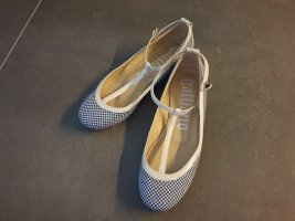 John Galliano Strappy Ballerinas natural white-cornflower blue leather