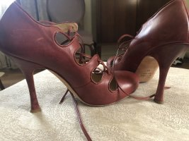 Galliano Mary Jane Pumps brown red