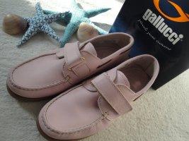 Zapatos de marinero rosa Cuero