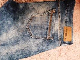 Gang Jeans vita bassa blu acciaio