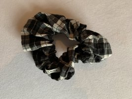 Ganni Zopfgummi kariert Karos Haarband Stoffband neu