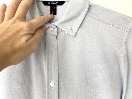 Gant Bluse Oxford Jersey Shirt dezentes Logo Baumwolle hellblau