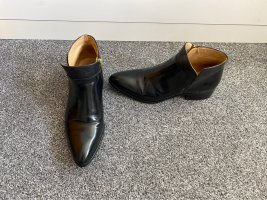 Gant Cut Out Booties black leather
