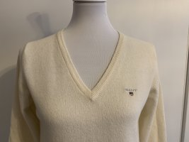 GANT wollweißer V-Ausschnitt Pullover