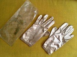 Gants Perlfil Vintage Handschuhe, 60er Jahre, Gold