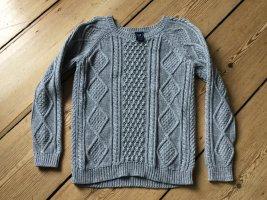 Gap Warkoczowy sweter jasnoszary