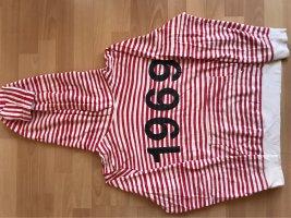 Gap Jersey con capucha blanco-rojo ladrillo