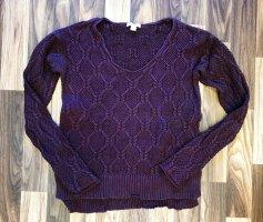 Gap Pullover Strick Langarmpullover Shirt Langarmshirt Struktur Größe S lila Aubergine Damen Neu 59,99€