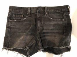 Gap Shorts Jeans Kurze Hose schwarz grau 25 36 S