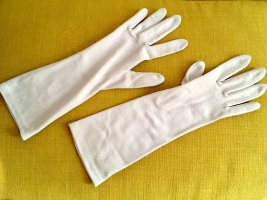 GEA Vintage Handschuhe, 60er Jahre, Wollweiß, Gr. 8