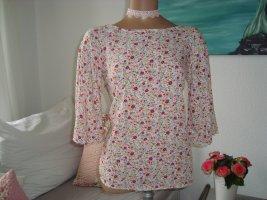 **Geblümte bunte Rundhals -Bluse mit 3/4 Arm / im Hippie Boho Style/ Gr.36-38**