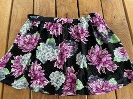 Asos Petite Skaterska spódnica Wielokolorowy Tkanina z mieszanych włókien