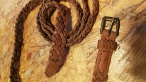 H&M Leather Belt cognac-coloured