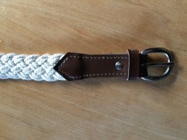 Braided Belt natural white cotton