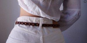 Vintage Cinturón de cuero multicolor Cuero