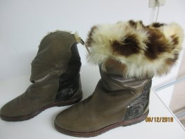 Caiman Winter Boots grey brown leather
