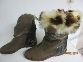 Caiman Bottes d'hiver gris brun cuir