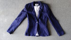 H&M Tuxedo Blazer dark blue-white mixture fibre