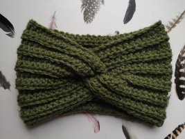 selfmade Cinta para el pelo verde oliva lana de alpaca