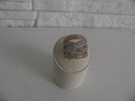Gelb Gold , weis gold  Ring 585 mit Zirkonia steine