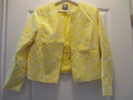 Gelb-weißer Blazer