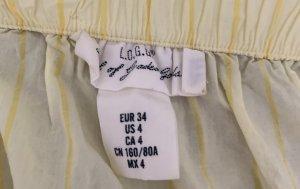 H&M Hauts épaule nues jaune primevère-blanc