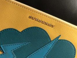 Burberry Borsa clutch giallo-blu cadetto