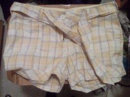 gelbe Shorts, Stoff, kariert