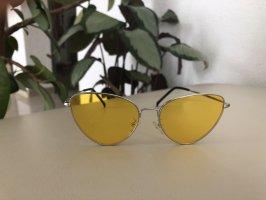 Occhiale stile retro giallo