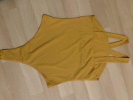 SheIn Top senza maniche ocra-giallo