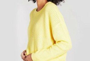 Daphnea Crochet Sweater yellow