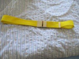 Pasek z materiału żółty