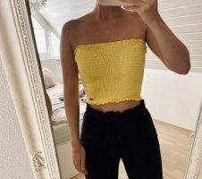 Hollister Top bandeau amarillo