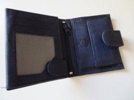 Wallet dark blue leather