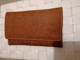 Wallet cognac-coloured leather
