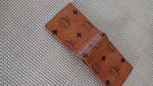 MCM Portefeuille brun-beige faux cuir