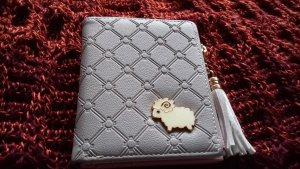 Geldbörse Geldbeutel grau rosa mit Schaf und Quaste neu