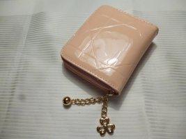 Geldbörse Kunstleder rosa Lack