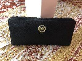 Geldbörse Michael Kors in Schwarz mit RV-MK Logo in Gold