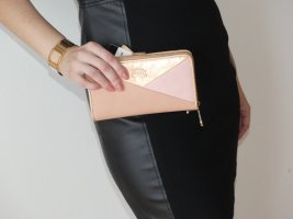 Geldbörse / Mini Clutch neu Handyfach rosa gold Miss Germany Premium Collection