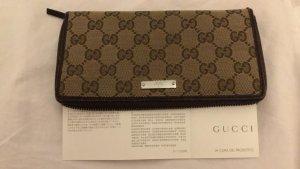 Gucci Portemonnee grijs-bruin